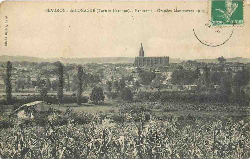 carte, postale, beaumont, de